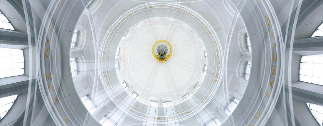 auffallende geometrie in hannovers innenstadt